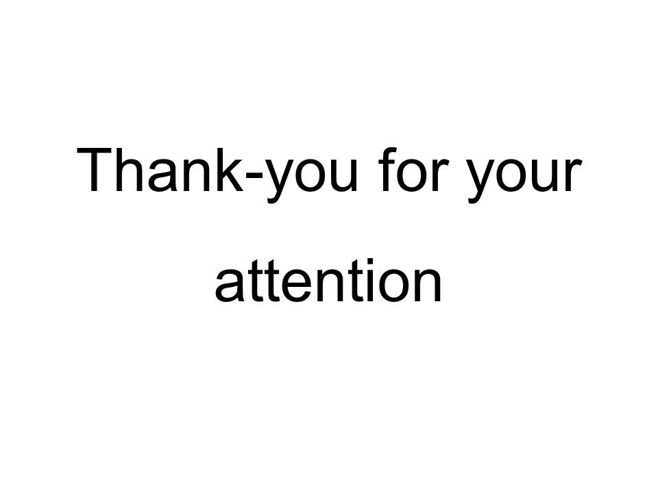 Thank-you for your attention