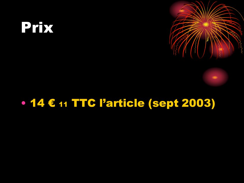Prix 14 11 TTC larticle (sept 2003)