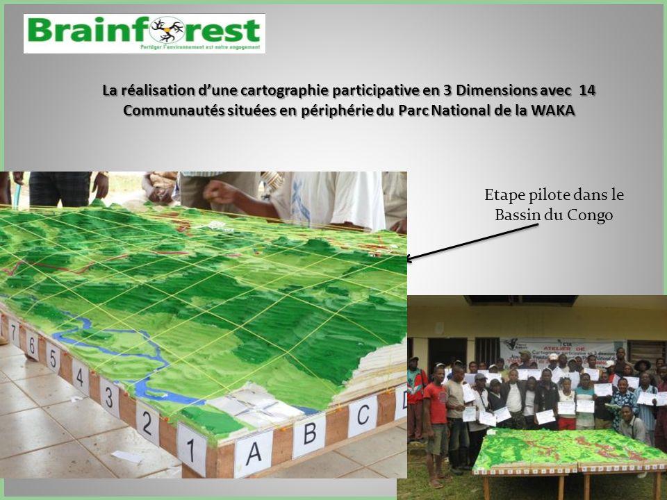La réalisation dune cartographie participative en 3 Dimensions avec 14 Communautés situées en périphérie du Parc National de la WAKA Etape pilote dans