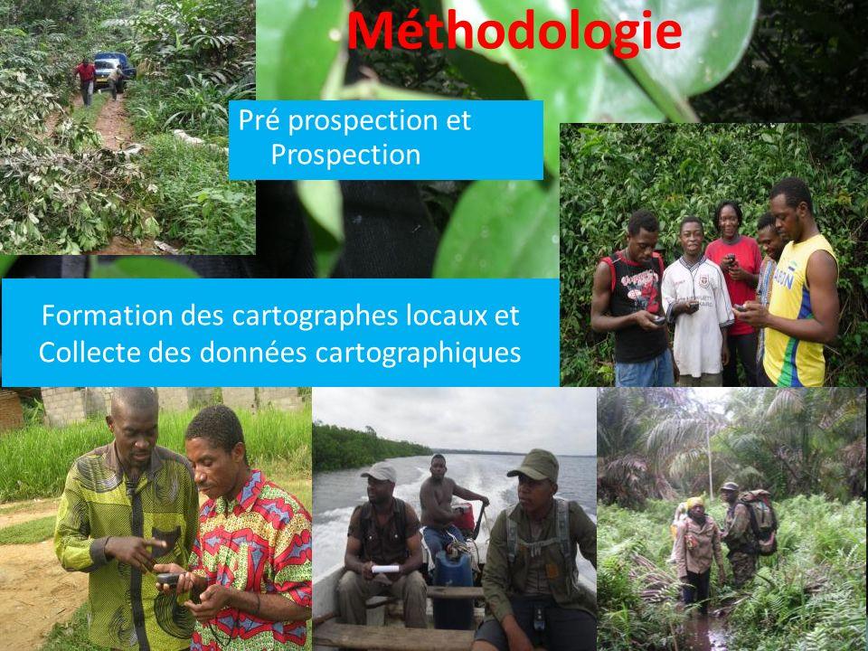Méthodologie Formation des cartographes locaux et Collecte des données cartographiques Pré prospection et Prospection