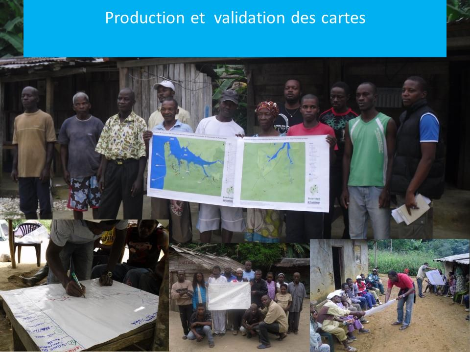 Production et validation des cartes