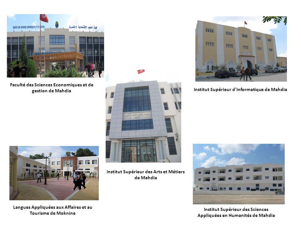 Langues Appliquées aux Affaires et au Tourisme de Moknine Institut Supérieur des Sciences Appliquées en Humanités de Mahdia Institut Supérieur d'Infor