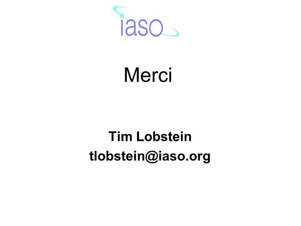 Merci Tim Lobstein tlobstein@iaso.org