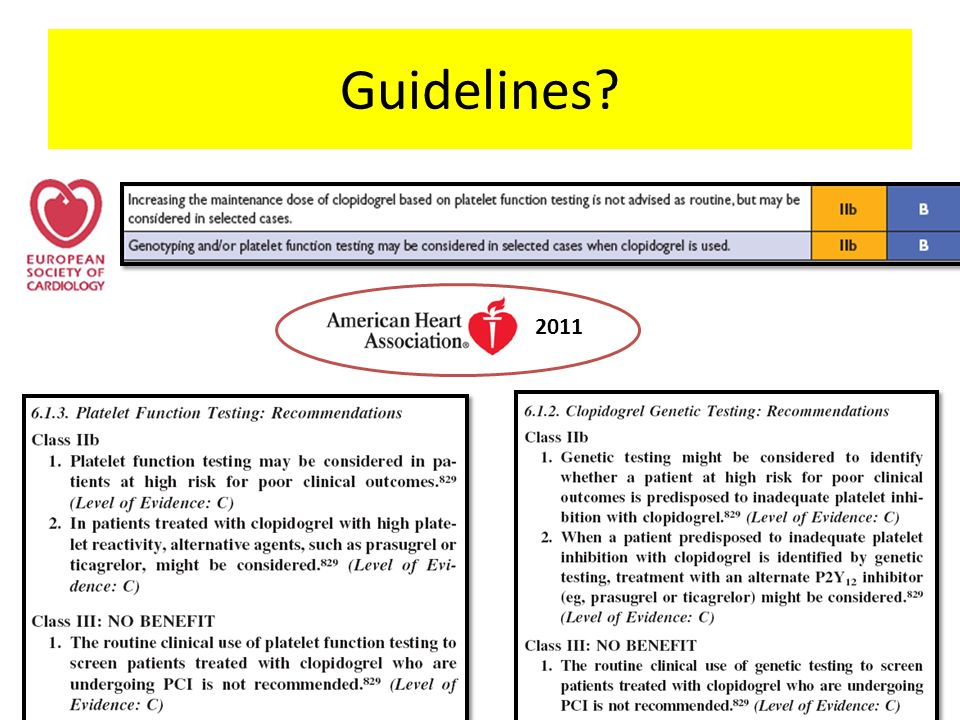 Guidelines? 2011