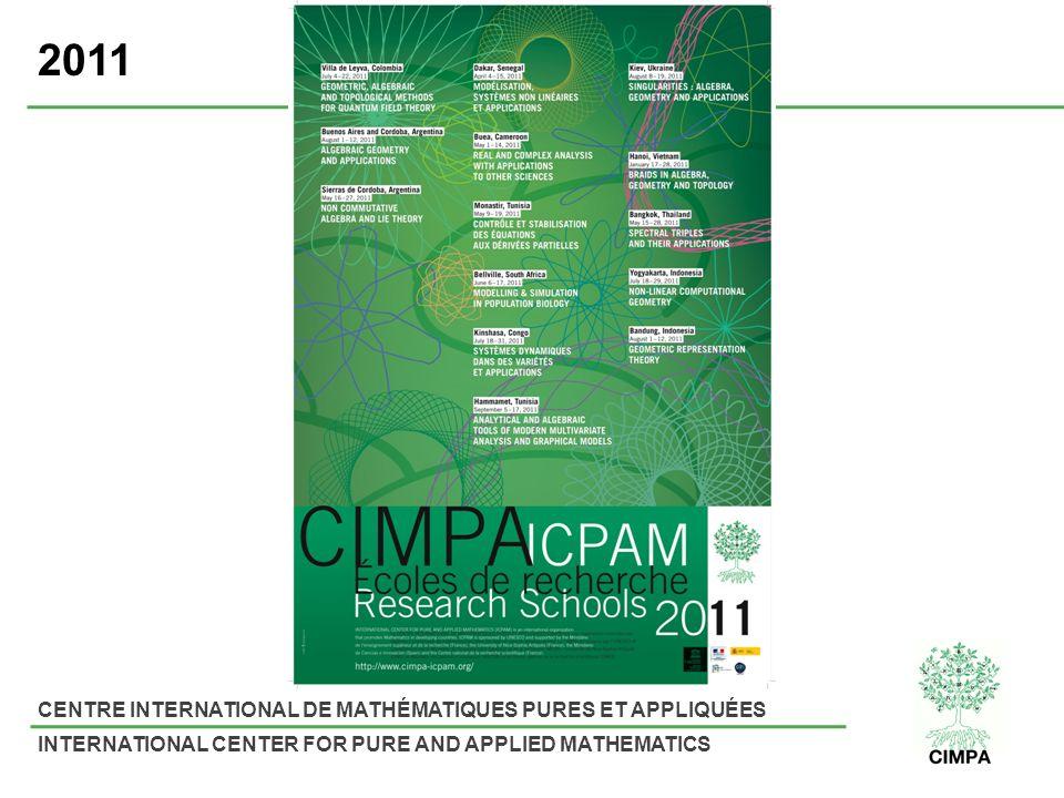 CENTRE INTERNATIONAL DE MATHÉMATIQUES PURES ET APPLIQUÉES INTERNATIONAL CENTER FOR PURE AND APPLIED MATHEMATICS 2011