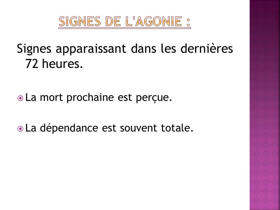 Apparition de nouveaux symptômes ou exacerbation des symptômes préexistants: - Syndrome algique de décubitus.