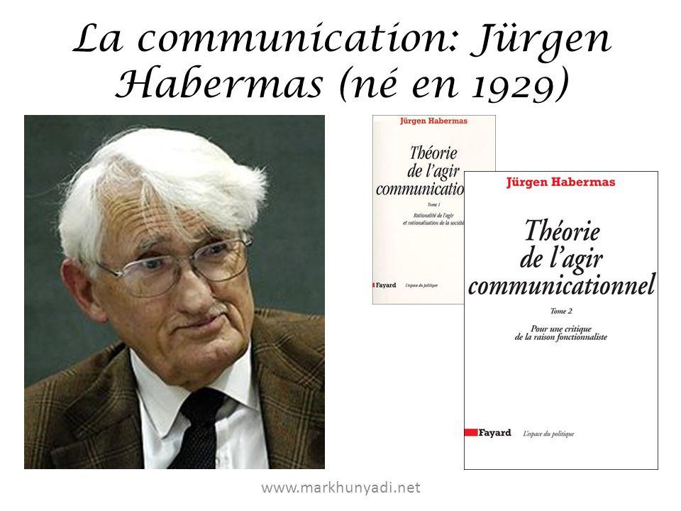 La communication: Jürgen Habermas (né en 1929) www.markhunyadi.net