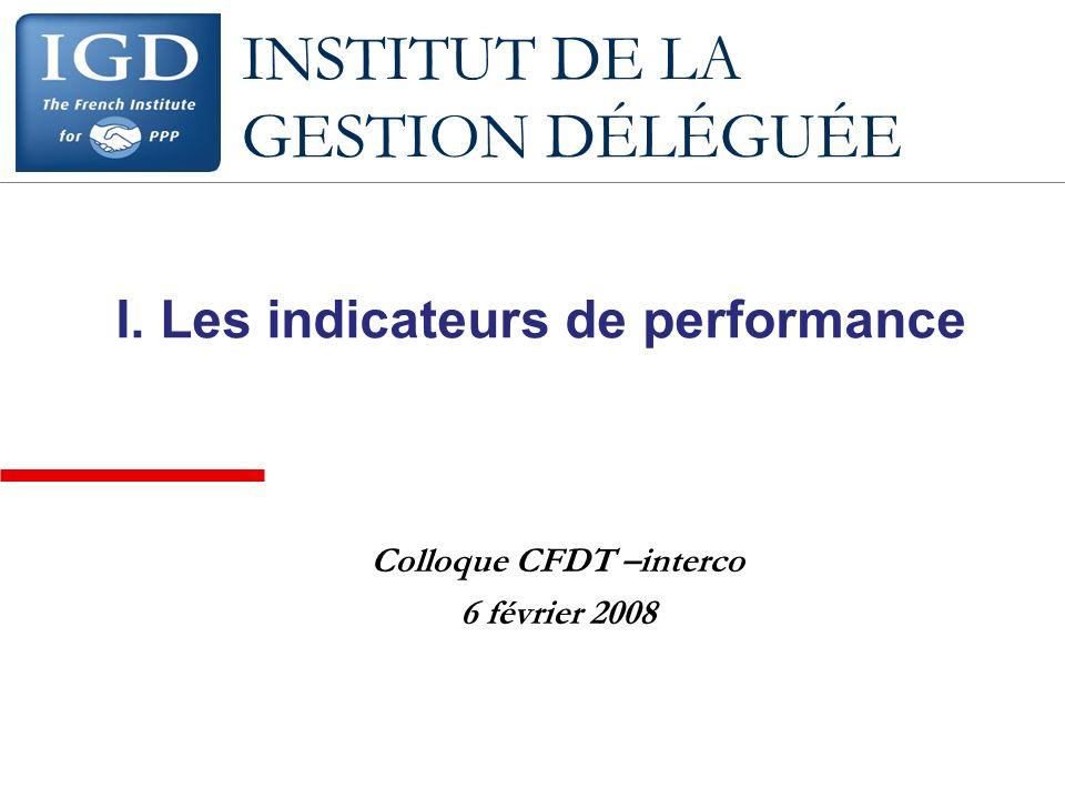 INSTITUT DE LA GESTION DÉLÉGUÉE I.