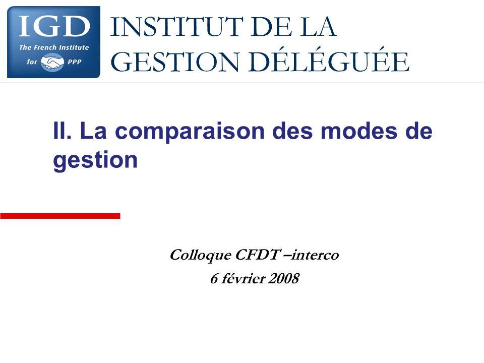INSTITUT DE LA GESTION DÉLÉGUÉE II.
