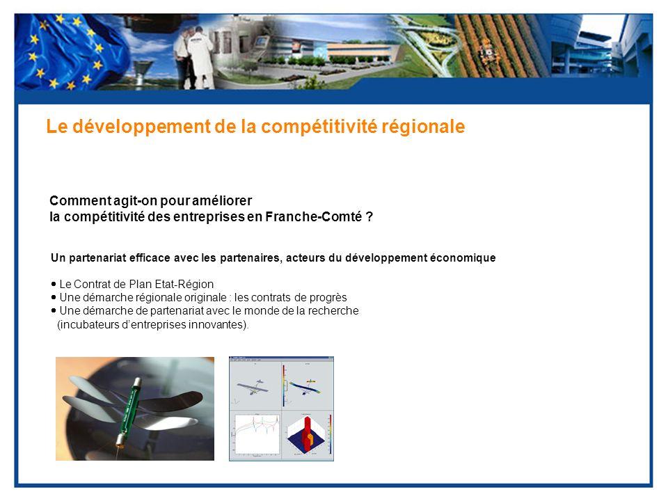 Comment agit-on pour améliorer la compétitivité des entreprises en Franche-Comté ? Le développement de la compétitivité régionale Un partenariat effic