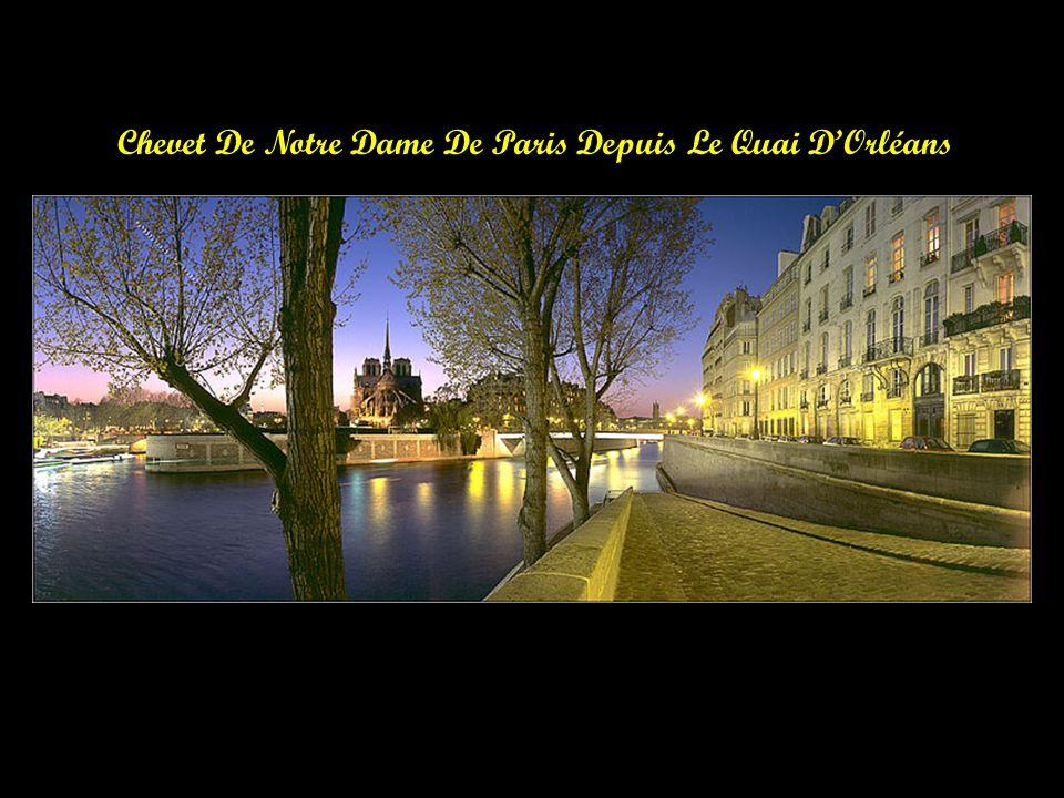 Notre Dame De Paris Depuis Le Pont De LArchevèché