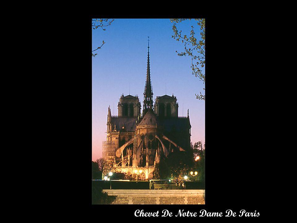 Chevet De Notre Dame De Paris Depuis Le Quai DOrléans