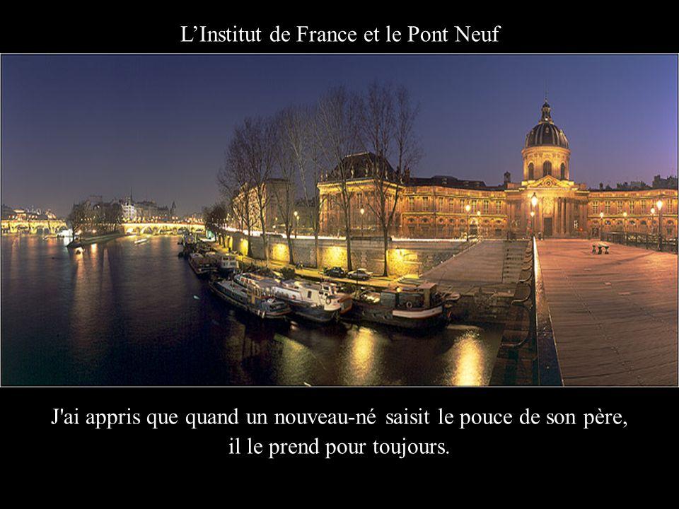 Institut de France J'ai appris tant de choses de vous.... J'ai appris que tout le monde veut vivre au sommet de la montagne, oubliant que tout ce qui