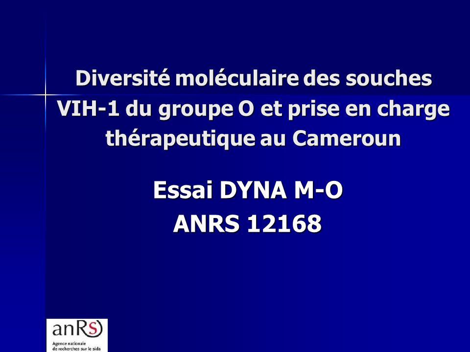 Diversité moléculaire des souches VIH-1 du groupe O et prise en charge thérapeutique au Cameroun Essai DYNA M-O ANRS 12168