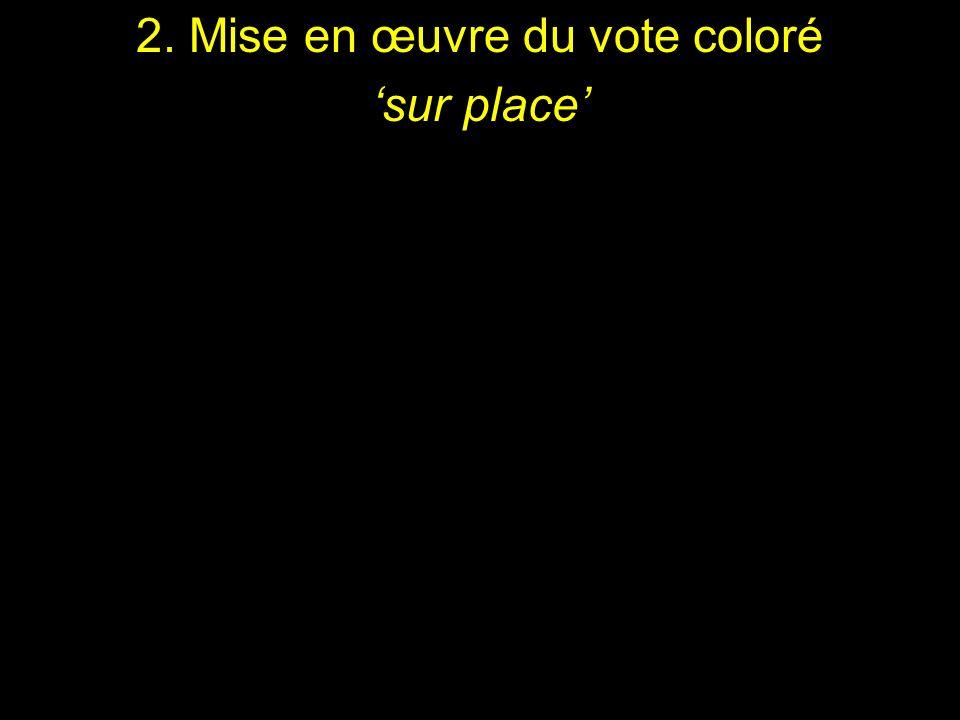 2. Mise en œuvre du vote coloré sur place