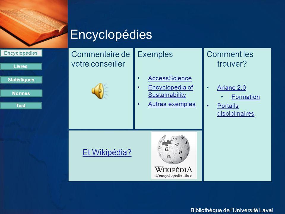 Commentaire de votre conseiller Encyclopédies Livres Statistiques Normes Exemples AccessScience Encyclopedia of SustainabilityEncyclopedia of Sustaina