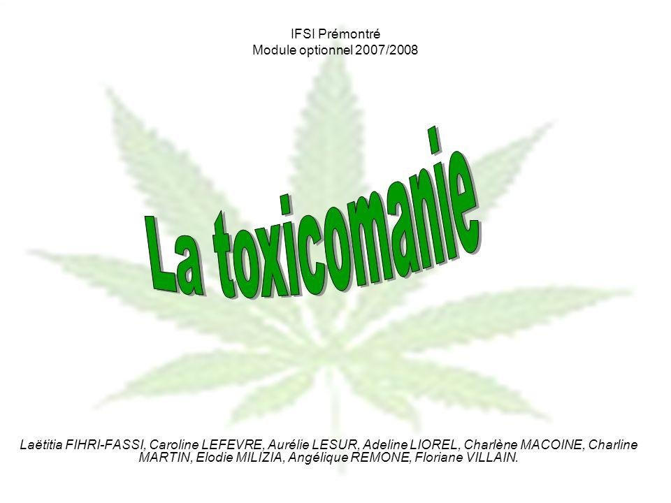 Les drogues et leurs classifications Les dépresseurs Léthanol Les narcotiques ou opiacés Lhéroïne La méthadone Les benzodiazépines IFSI Prémontré Module optionnel 2007/2008