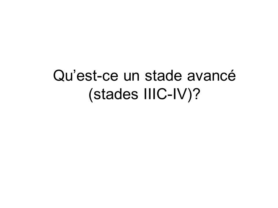 Quest-ce un stade avancé (stades IIIC-IV)?
