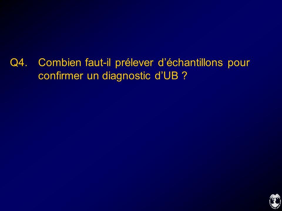 Q4. Combien faut-il prélever déchantillons pour confirmer un diagnostic dUB ?