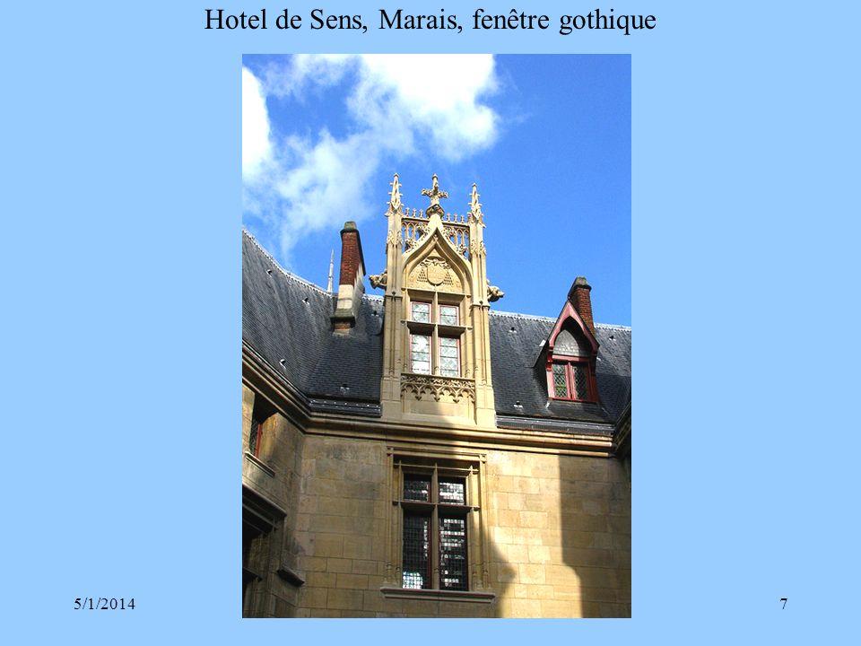 5/1/20147 Hotel de Sens, Marais, fenêtre gothique