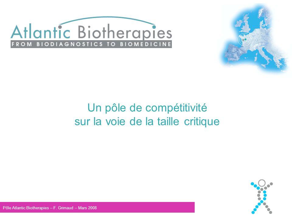 Un pôle de compétitivité sur la voie de la taille critique Pôle Atlantic Biotherapies – F.
