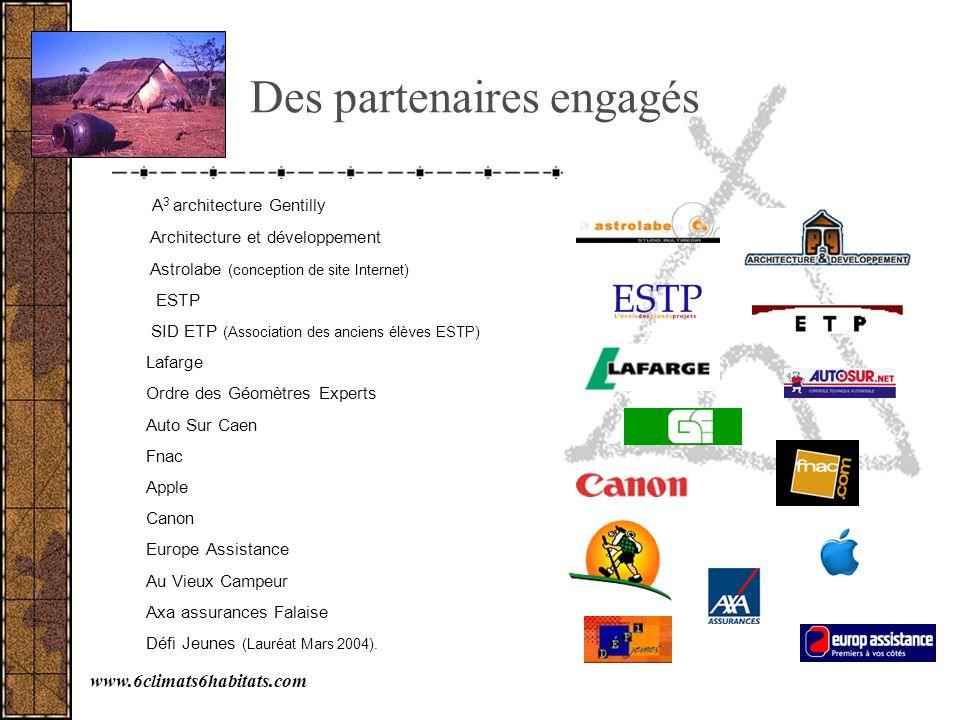 Des partenaires engagés A 3 architecture Gentilly Architecture et développement Astrolabe (conception de site Internet) ESTP SID ETP (Association des