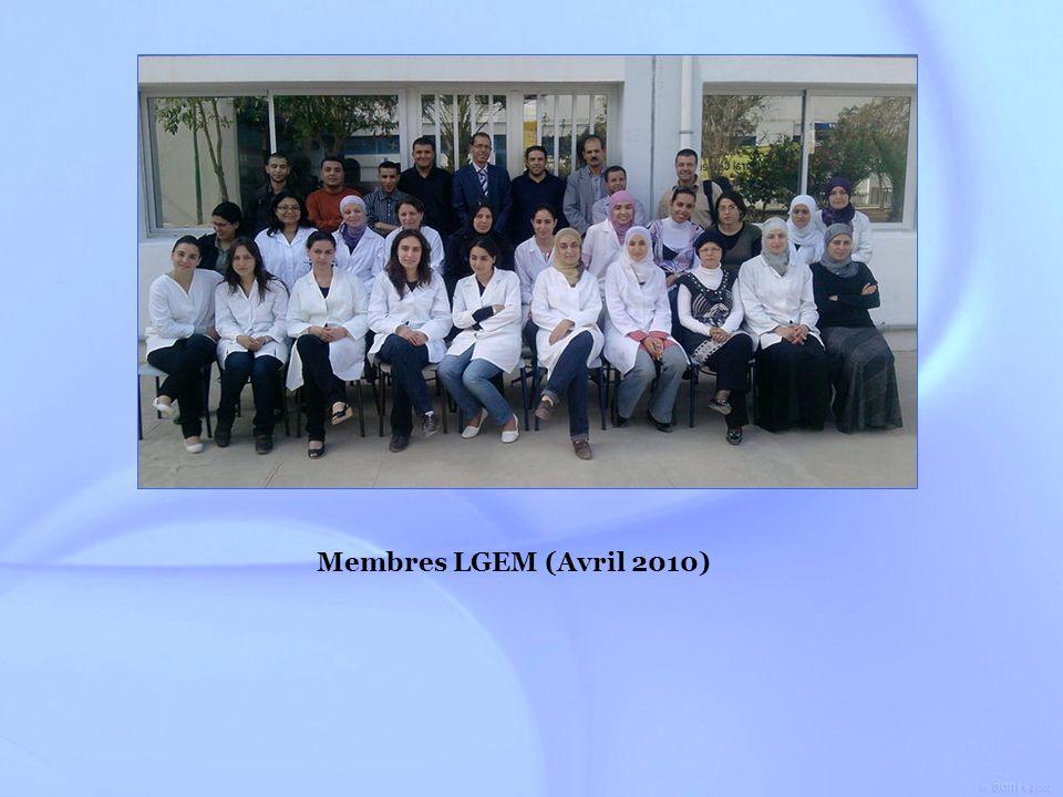 A pour mission de promouvoir : Laboratoire de Génie Enzymatique et de Microbiologie (LGEM) Créé en 2003 La formation de scientifiques et dingénieurs dans le domaine du Génie Biologique.