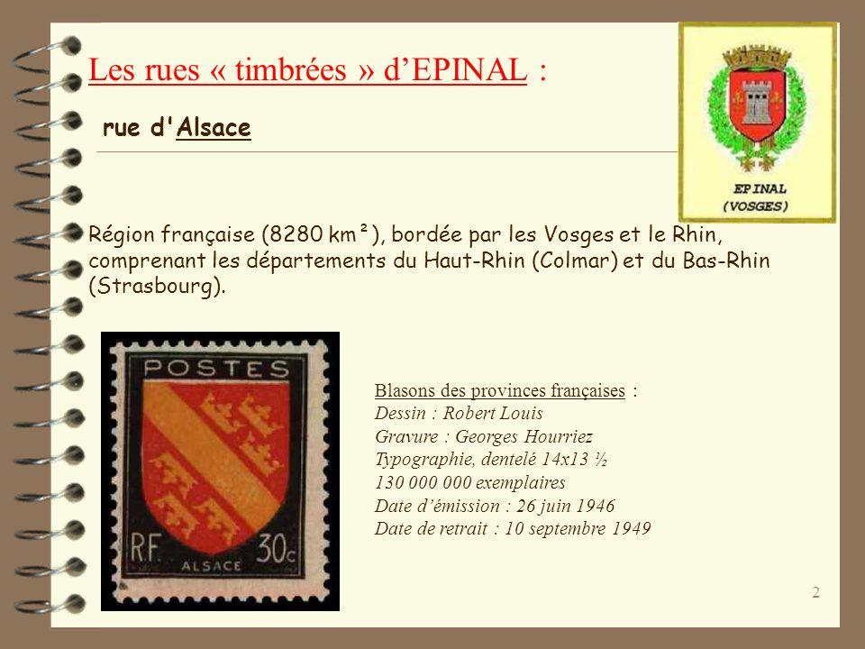1 Diaporama daprès le site internet : http://pcv-epinal.fr/ © CN 2004 Les rues « timbrées » dEPINAL : Les rues dÉPINAL illustrées par les timbres
