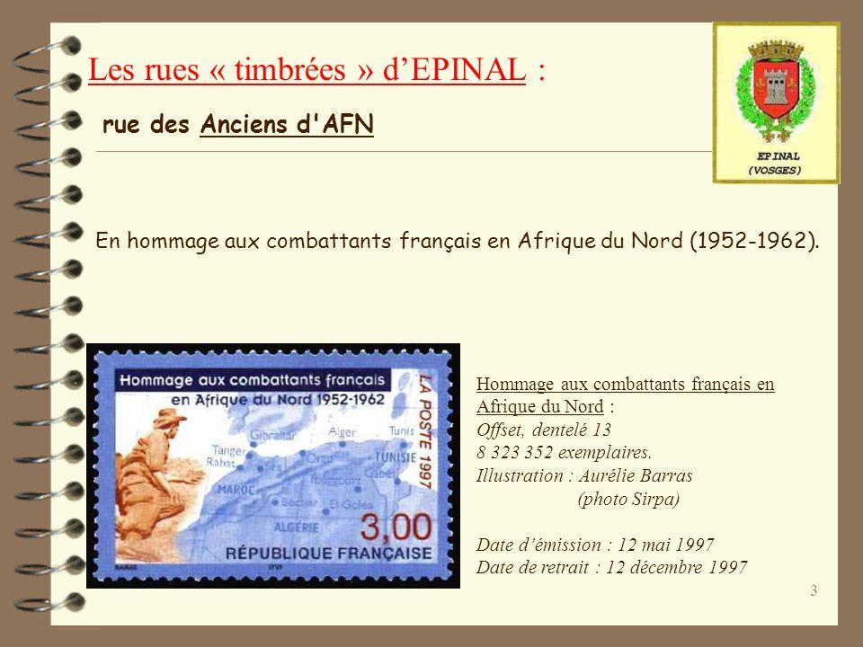 3 En hommage aux combattants français en Afrique du Nord (1952-1962).