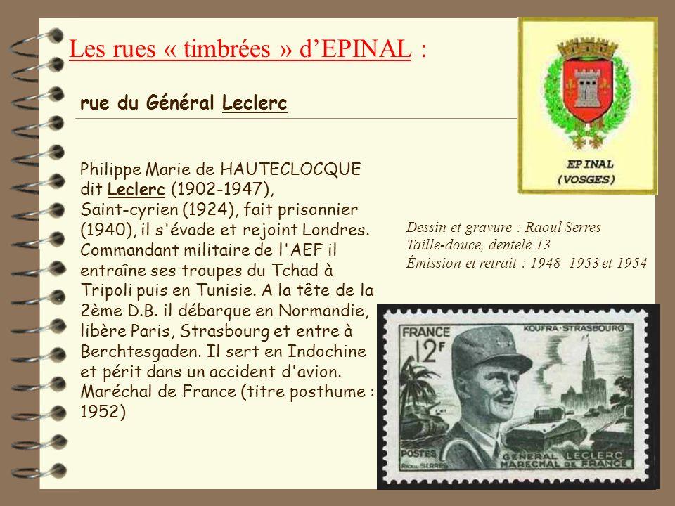 45 Dessin : Raoul Serres Gravure : Albert Decaris Taille-douce, dentelé 13 Émission : 10/5/52 & 8/6/54 Retrait : 25/10/52 & 6/11/54 Jean de Lattre de