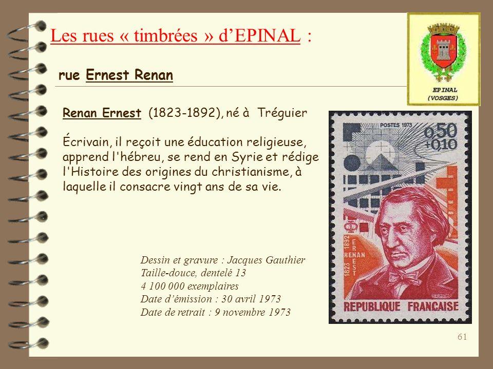 60 Remiremont : Chef-lieu de canton des Vosges. La ville se développa autour d'une abbaye de femmes fondée en 910 (