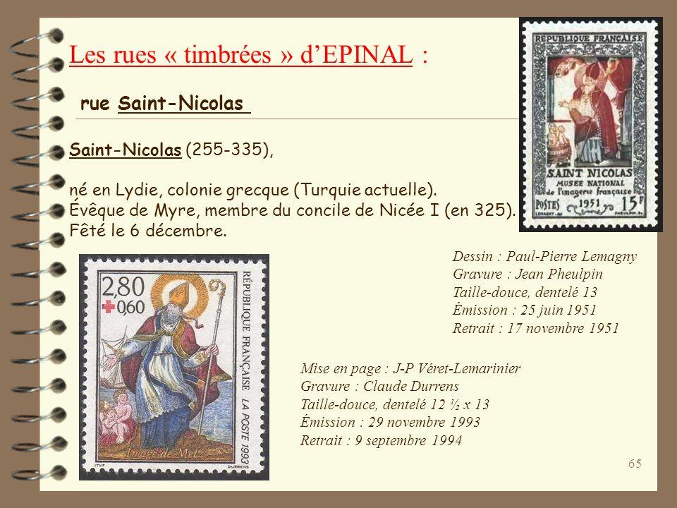 64 1000 eme anniversaire du Mont Saint-Michel Dessin et gravure : Pierre Gandon Taille-douce, dentelé 13 10 160 000 exemplaires Date démission : 2 mai