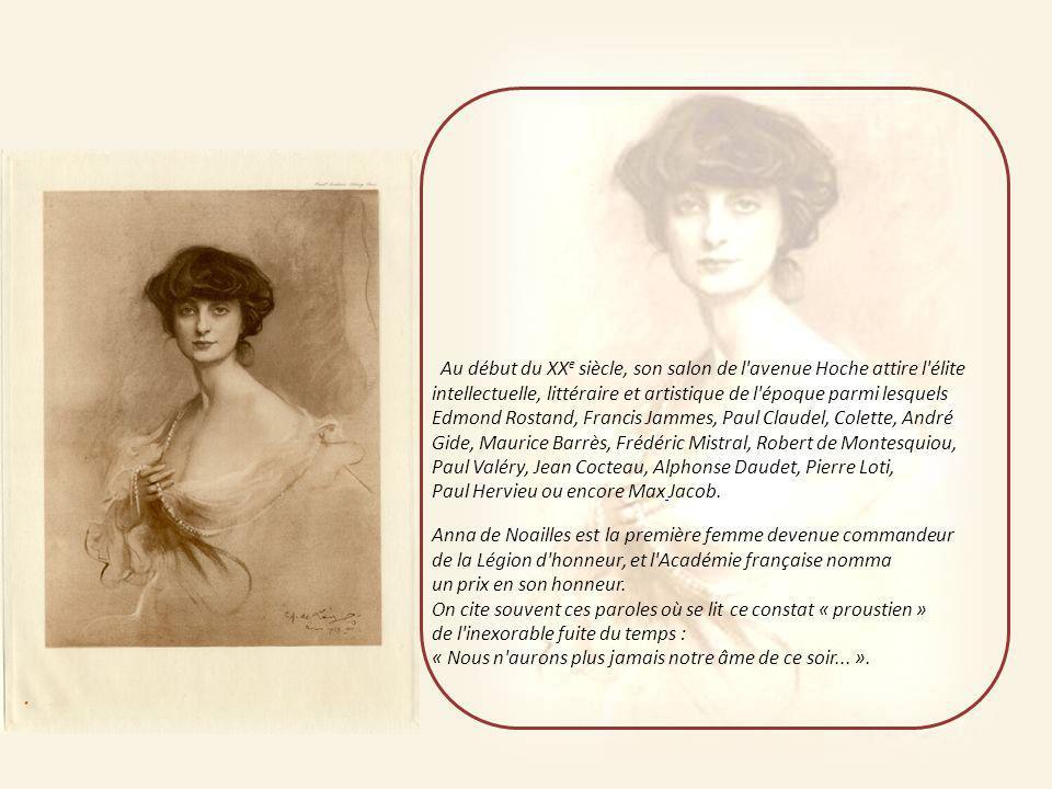 La comtesse Anna-Élisabeth de Noailles, née princesse Brâncoveanu est une poétesse et romancière française née à Paris le 15 novembre 1876 et morte à