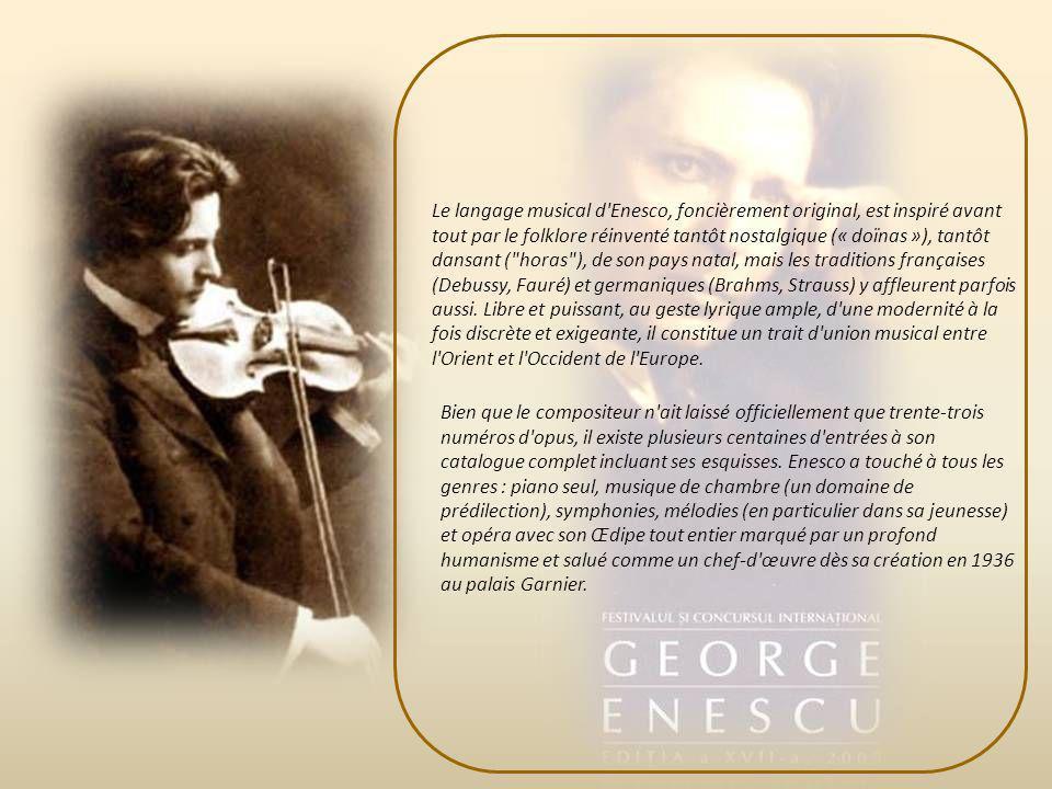Georges Enesco continue de composer la célèbre Sonate pour violon et piano