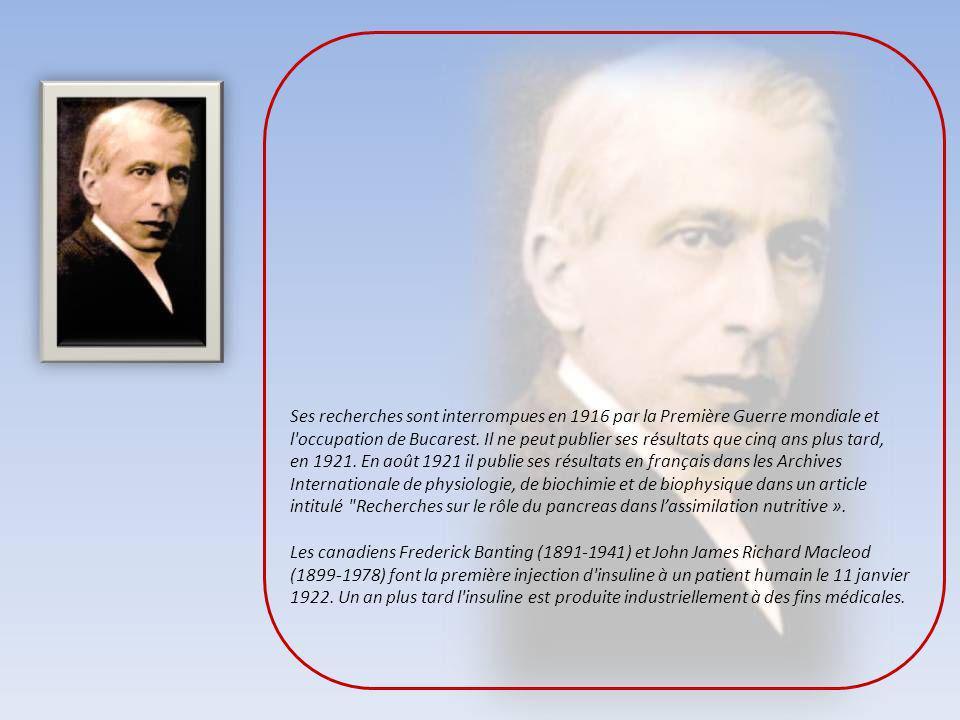 Nicolae Constantin Paulescu, né le 8 novembre 1869 à Bucarest en Roumanie, décédé le 19 juillet 1931 était un professeur roumain en médecine et en phy