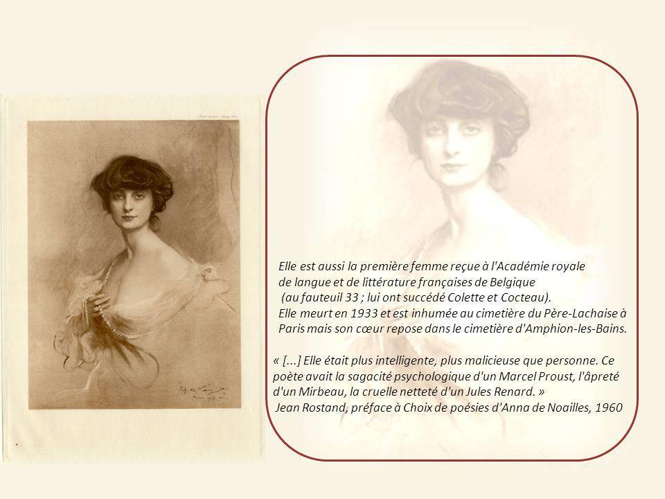 Au début du XX e siècle, son salon de l'avenue Hoche attire l'élite intellectuelle, littéraire et artistique de l'époque parmi lesquels Edmond Rostand