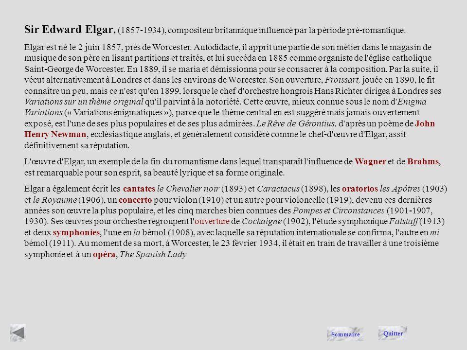 ELGAR Quitter Sommaire