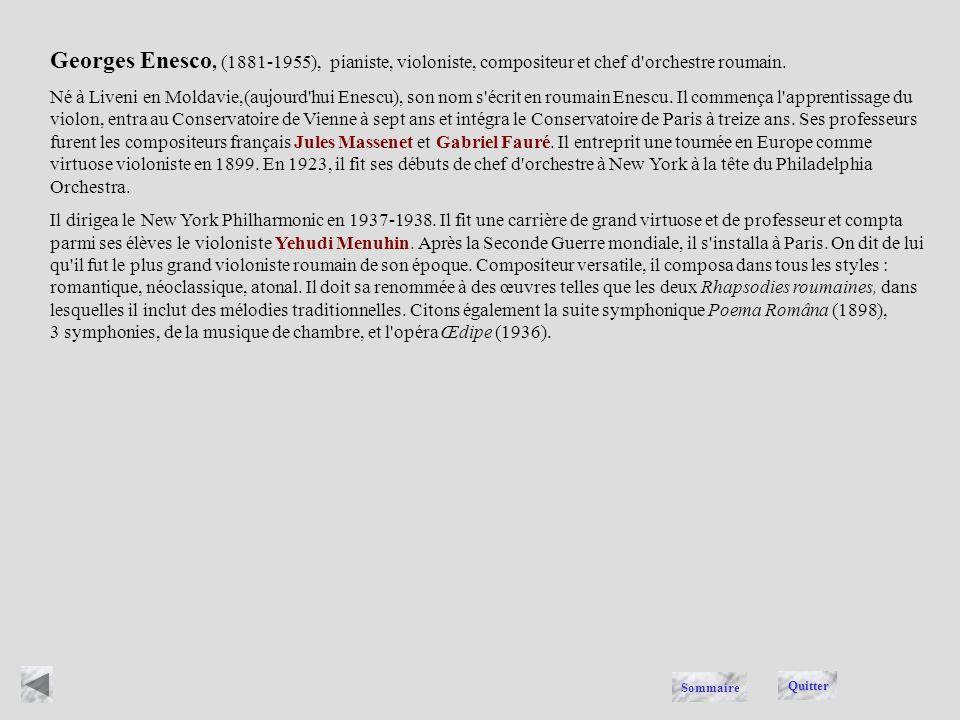 ENESCO Quitter Sommaire