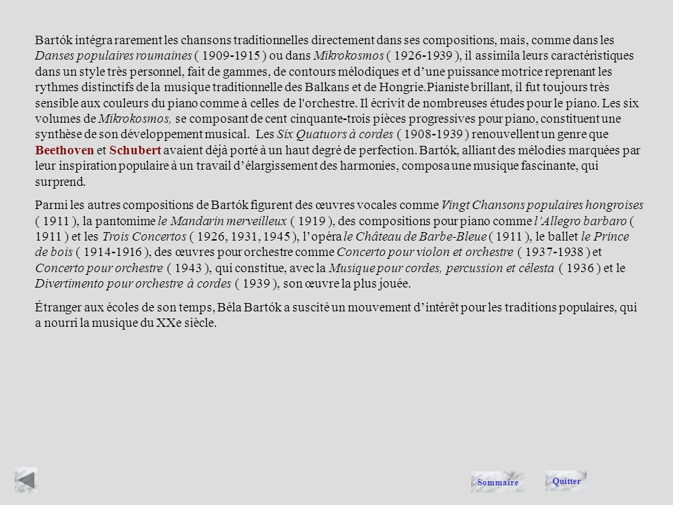 Béla Bartók, ( 1881-1945 ), pianiste et compositeur hongrois marqué par la musique traditionnelle des Balkans et de Hongrie, et lun des principaux com
