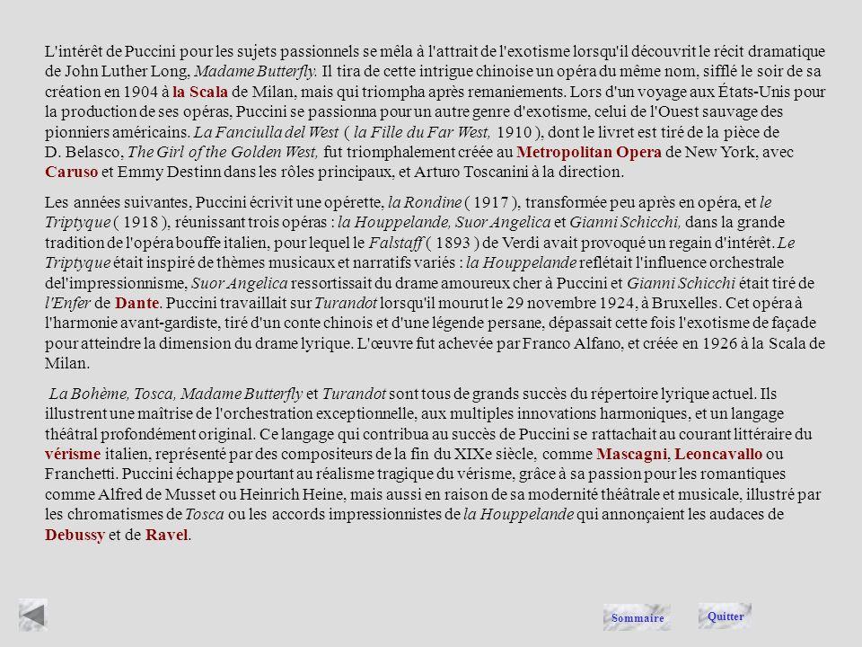 Giacomo Puccini, ( 1858-1924 ), compositeur italien dont les opéras associent des sentiments et un sens dramatique intenses à un lyrisme tendre, à une