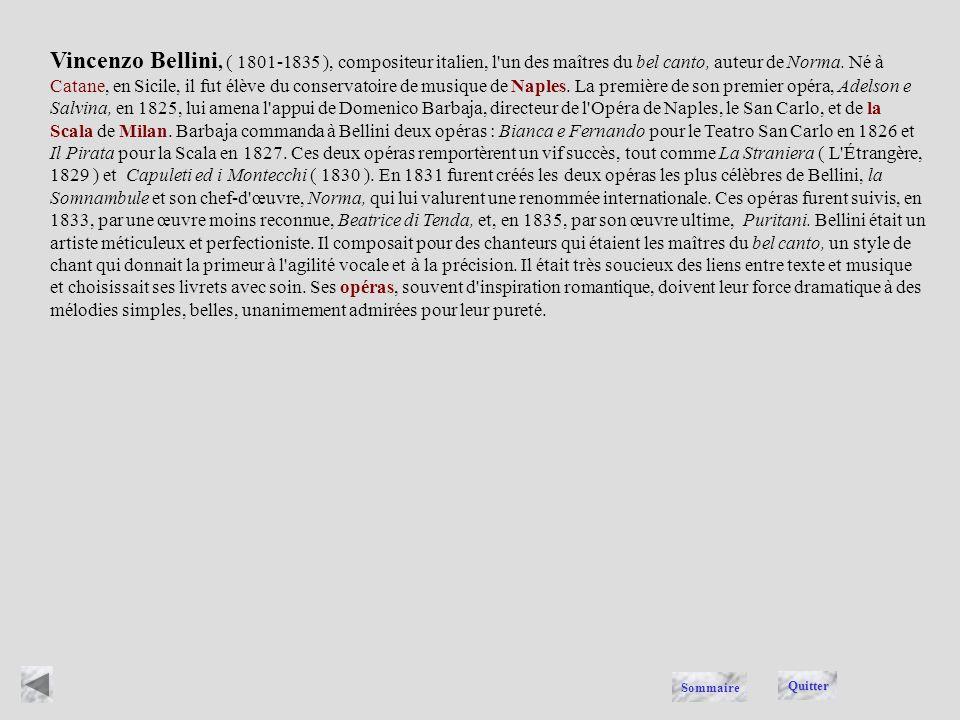 BELLINI Quitter Sommaire