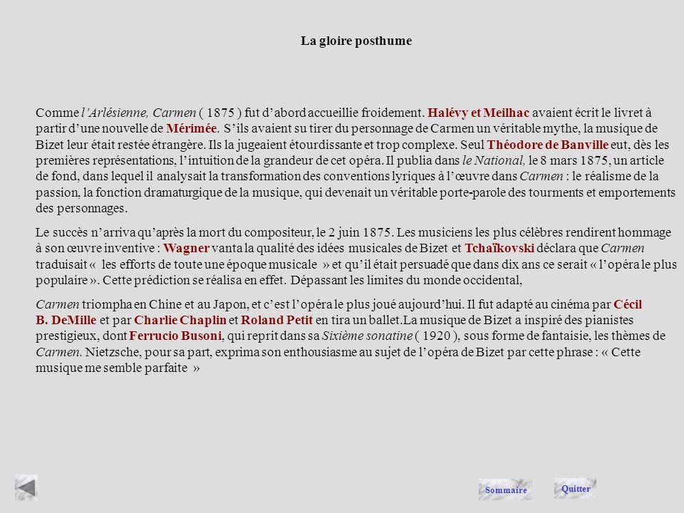 Georges Bizet, ( 1838-1875 ), compositeur français, dont la postérité a retenu deux œuvres écrites à la fin de sa vie, la suite dorchestre lArlésienne