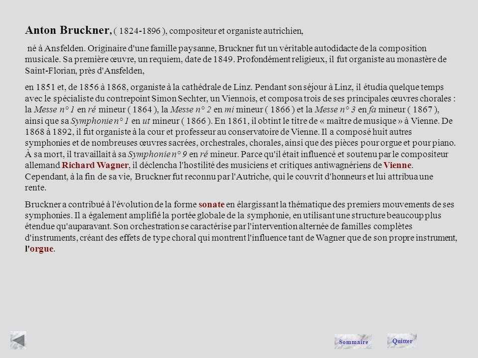 BRUCKNER Quitter Sommaire