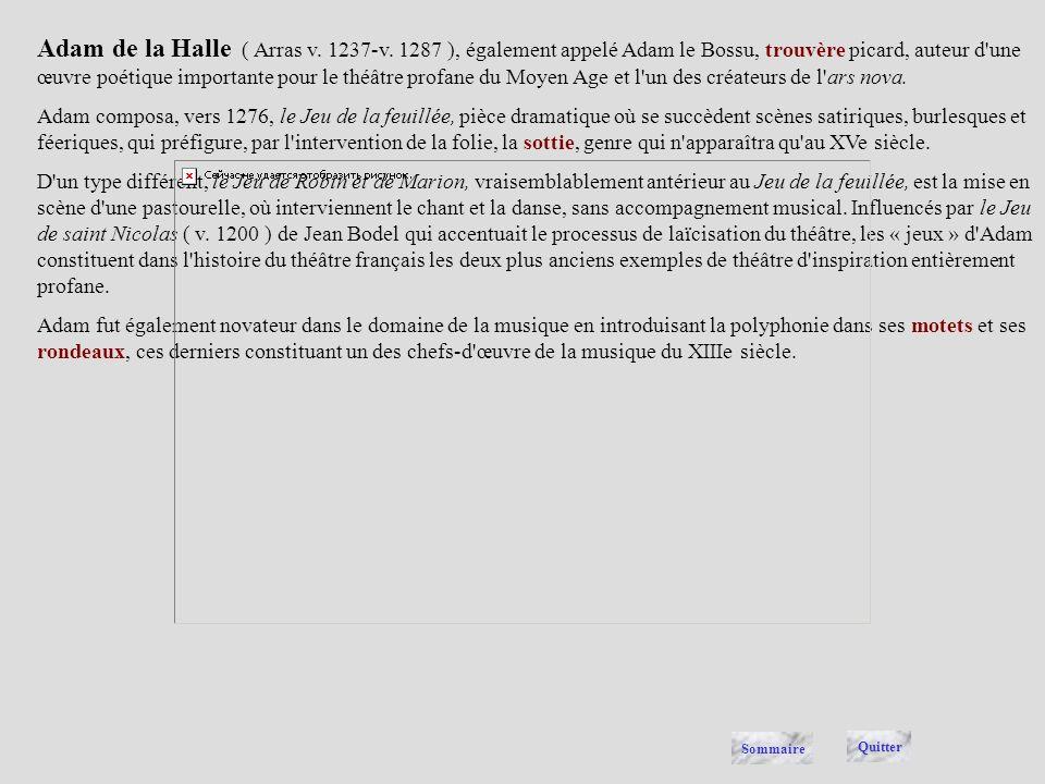Adam de la Halle ( Arras v.1237-v.