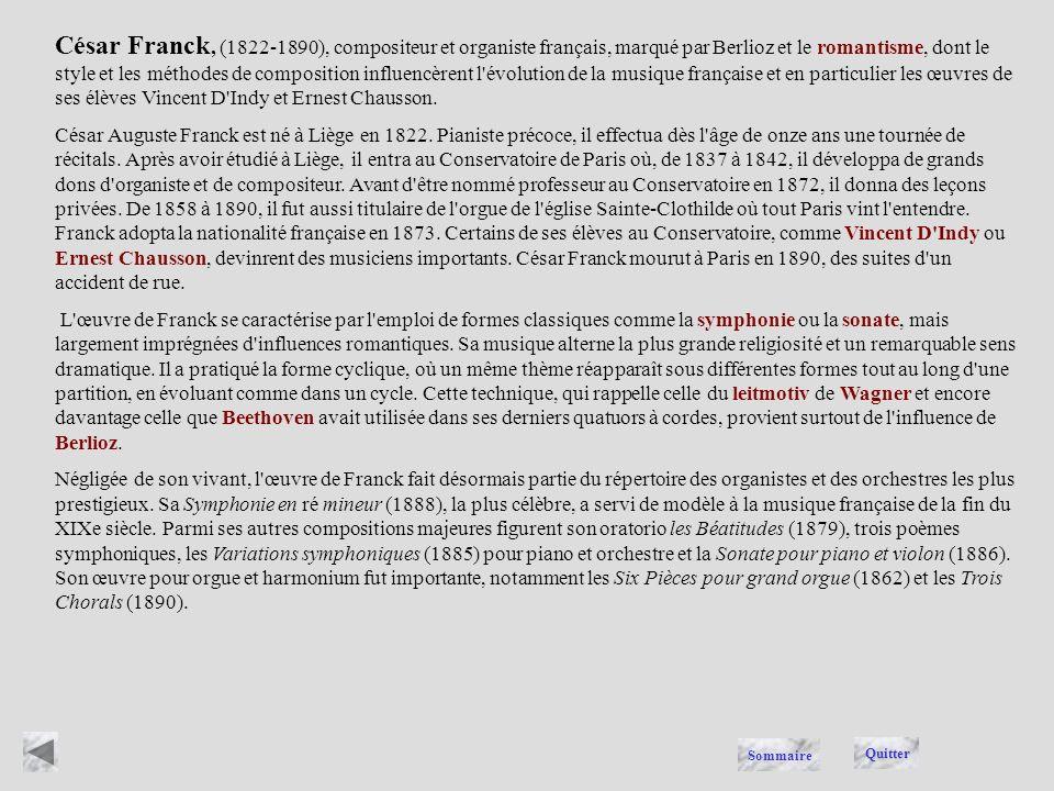 FRANCK Quitter Sommaire