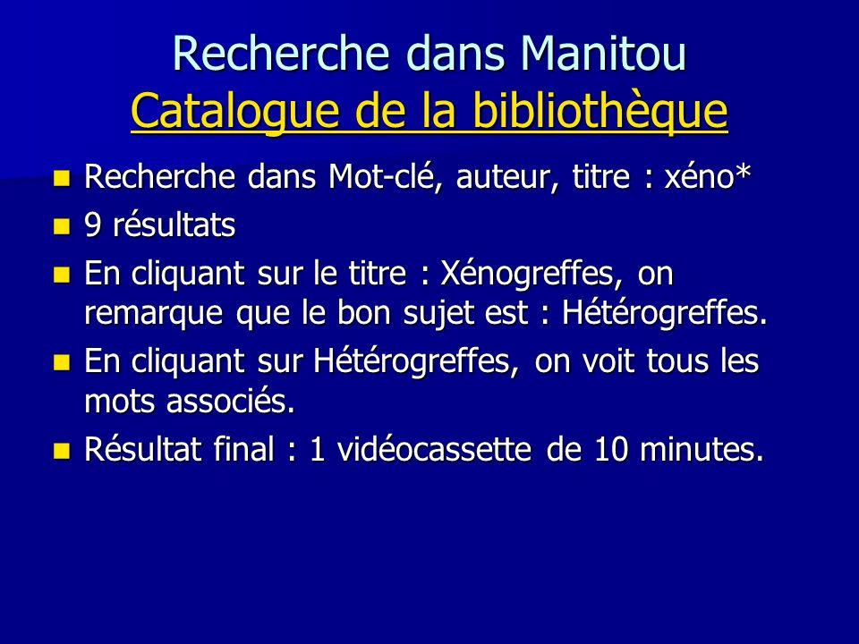 Recherche dans Manitou Catalogue de la bibliothèque Catalogue de la bibliothèque Catalogue de la bibliothèque Recherche dans Mot-clé, auteur, titre :