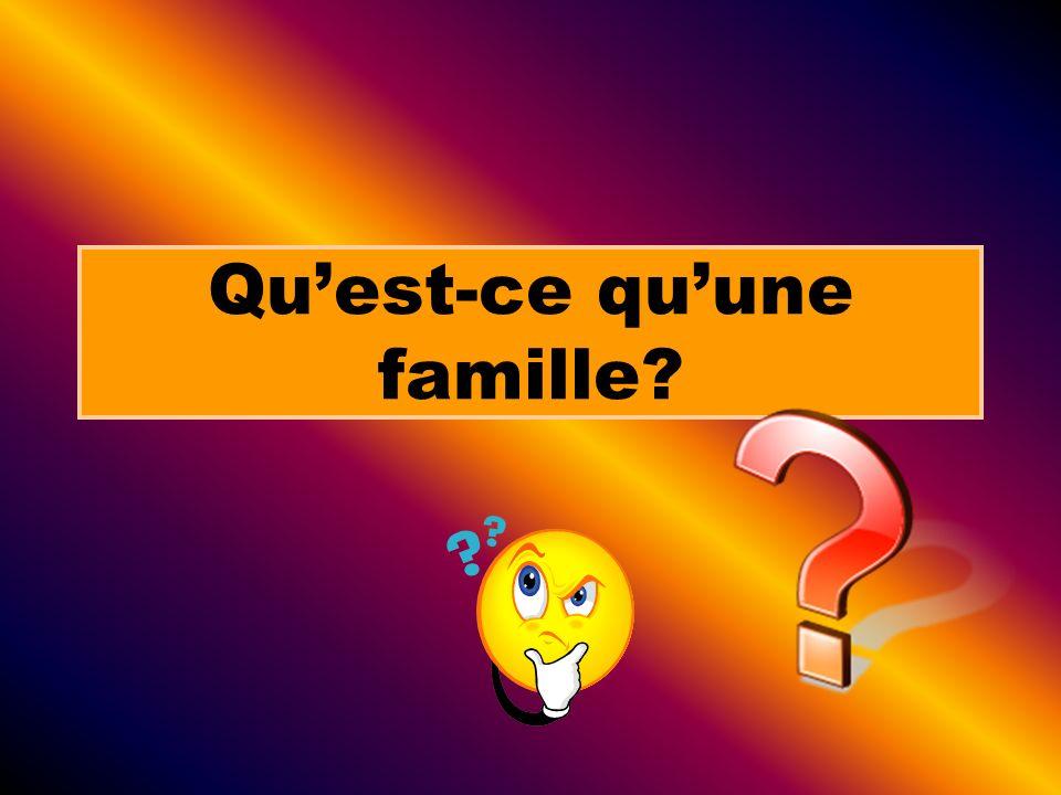 La famille traditionnelle: Durant les années 50, la société canadienne voyait la famille comme étant deux parents (un male et une femelle) et au moins deux enfants.