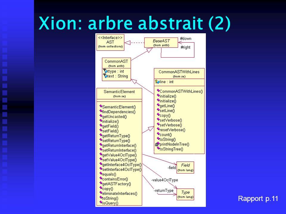 Xion: arbre abstrait (2) Rapport p.11
