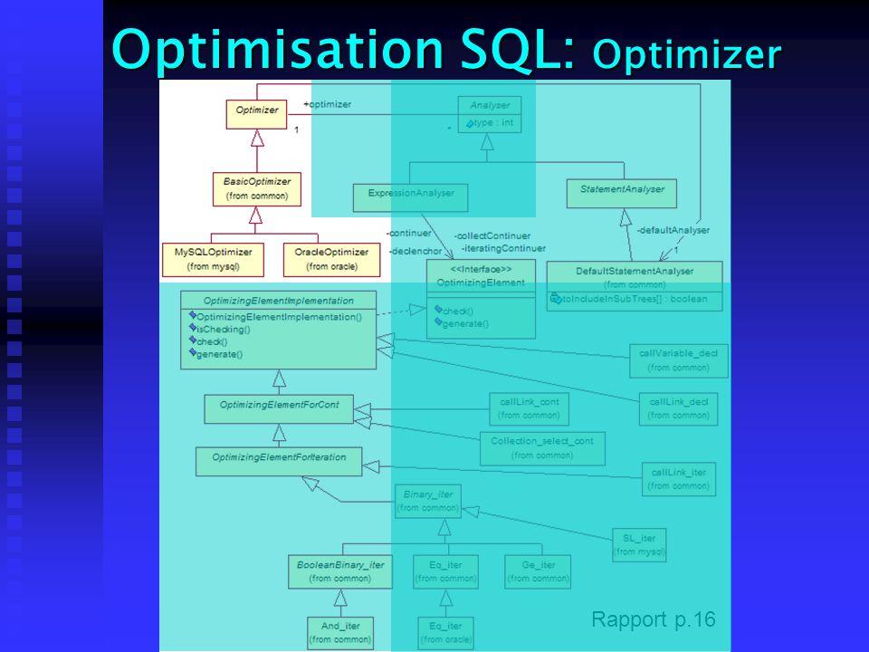 Optimisation SQL: Optimizer Rapport p.16