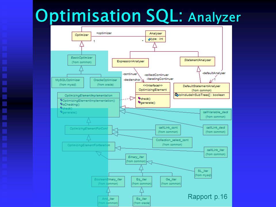Optimisation SQL: Analyzer Rapport p.16